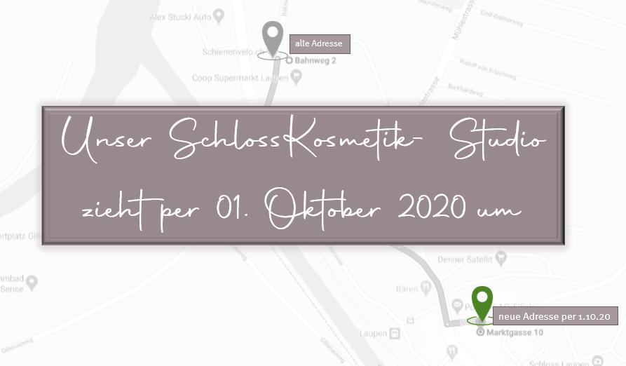 Unser SchlossKosmetik- Studio zieht um!